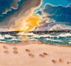 ithaca 695 voetstappen in het zand